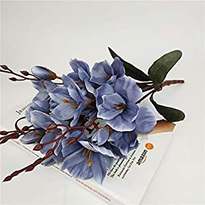 45cm Artificial Silk 5 Branch Magnolia Home Hotel Table Decoration Fake Flower Wedding Bride Holding Photography Props 1pc