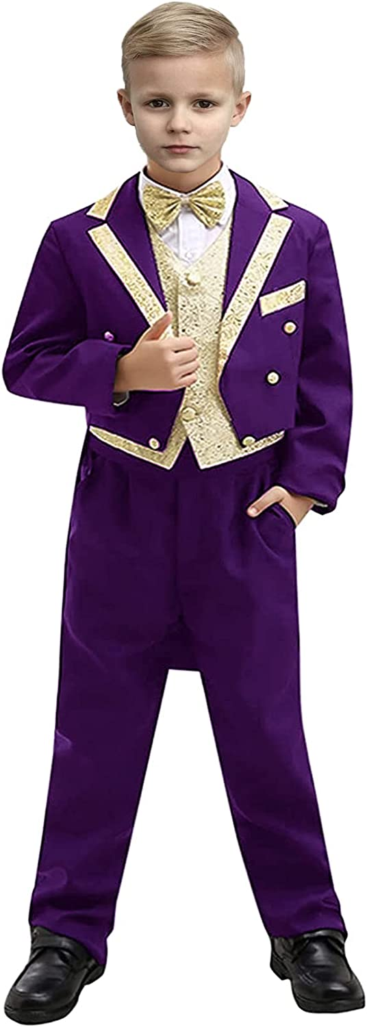 Dressy Suits for Kids Boys Classic Ring Ou Tuxedo Deluxe Tail with Bear Mail order