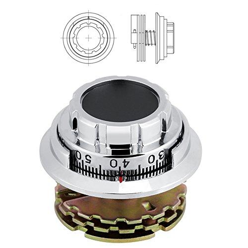 Allsor Cerradura de combinación de gabinete, Cerradura de dial codificada, Herramienta de Seguridad mecánica antirrobo Duradero para Estuches de joyería
