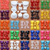 11 in 1 Full Buttons ABXYZ Button Thumbstick Cap Joystick Dpad Buttons for Nintedno Gamecube NGC Constroller (J-Clear Sky Blue)