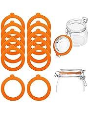 12 juntas de silicona de repuesto, anillos de sellado herméticos de silicona y juntas de goma para tarros de cristal
