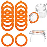 12 anillos de sellado para tarros de conservas, anillos de silicona herméticos y juntas de goma para tarros de cristal