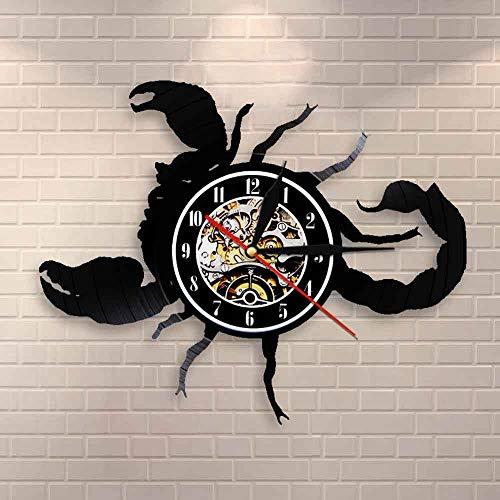 Reloj de pared con diseño de signo de estrella de Escorpio del zodiaco moderno para pared, reloj de pared con diseño de escorpión, regalo vintage