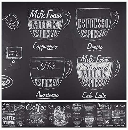 Küchenrückwand - Kaffee - 60 x 300 cm - Spritzschutz - 1,6 mm - kein Aufkleber - ABS Kunststoff - verschiedene Designs- Wandverkleidung(Menu)