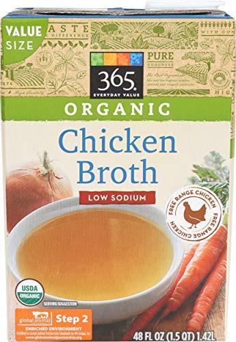 365 Everyday Value, Organic Low Sodium Chicken Broth, 48 fl oz