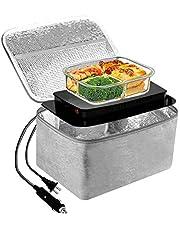 Calentador de alimentos eléctrico 2 en 1 para coche/camión y oficina, 220 V y 12 V 45 W, microondas portátil personal para hombres y mujeres, con doble voltaje, para la oficina, casa, coche, gris