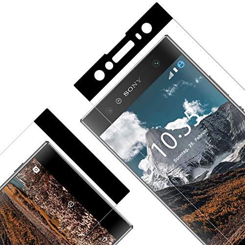 Vkaiy Displayschutzfolie für Sony Xperia XA2 Ultra, [Vollständige Abdeckung][0.33mm Ultra-klar][9H Härte][Frei von Kratzern Fingabdrücken und Öl], Panzerglas Glas Folie für XA2 Ultra, 2 Stück