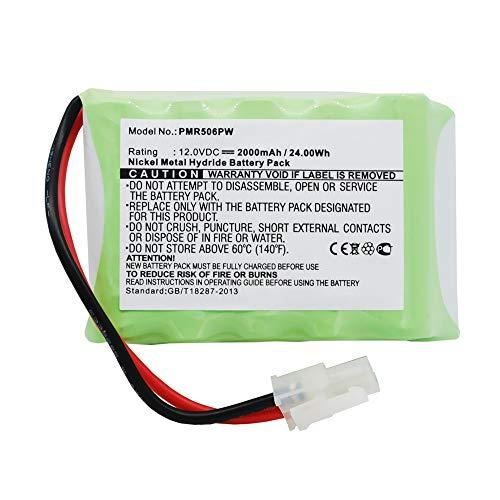 subtel® Premium Akku (12V, 2000mAh, NiMH) kompatibel mit Wolf-Garten Robo Scooter 300, 400, 500, 600, 1800-196-796-678 Ersatzakku Batterie Werkzeugakku