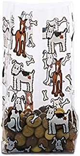 Panda Party Supplies Puppy Dogs Print Cello Treat Bags (100)