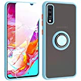 SHIYISHI for Samsung Galaxy A70 Case with Screen Protector, Slim Durable Hybrid St