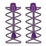 55 Sport Cordones Elásticos para Zapatillas de Deporte - Morado