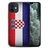 Stuff4 Gel TPU Phone Case/Cover for Apple iPhone 12 Mini/Croatia/Croatian Design/Flags Collection
