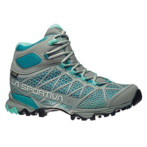 La Sportiva Women's Core High GTX Trail Hiking Boot, Grey/Mint, 40 M EU