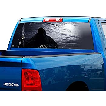 P451 Camo Reaper Bow Hunter Rear Window Tint Graphic Decal Wrap Back Pickup