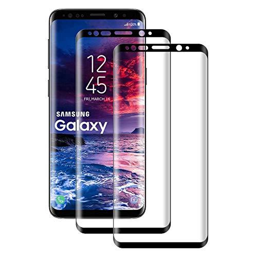 POOPHUNS Panzerglas Schutzfolie kompatibel mit Samsung Galaxy S8, Gehärtetes Glas Displayschutzfolie mit 9H Härte, HD Ultra Klar, Anti-Kratzen, Anti-Öl, Displayschutz Folie für S8(2 Stück)