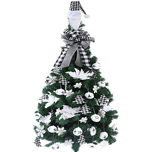 FLASH WORLD 40ct Christmas Tree Ornament Set,Xmas Tree Decorations with Gnome hat,Topper Bow,Hanging Decorative Set for for Christmas Holiday Party Decorations