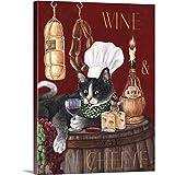 wine and cheese canvas - Wine and Cheese Canvas Wall Art Print, 30