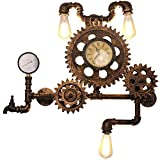 ZZY Retro Wall Light Industrial Vintage Iron Do The Old Water Pipe Gear Wall Lamp E27 Socket For Bar Restaurant Coffee Shop And Home Use