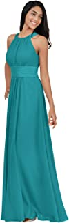 Bridesmaid Dresses Long for Women Formal Evening Party Prom Gown Halter
