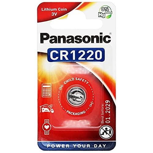 Pile bouton lithium CR1220 (CR1220L/1BP) ; CR 1220 P 1-BL Panasonic
