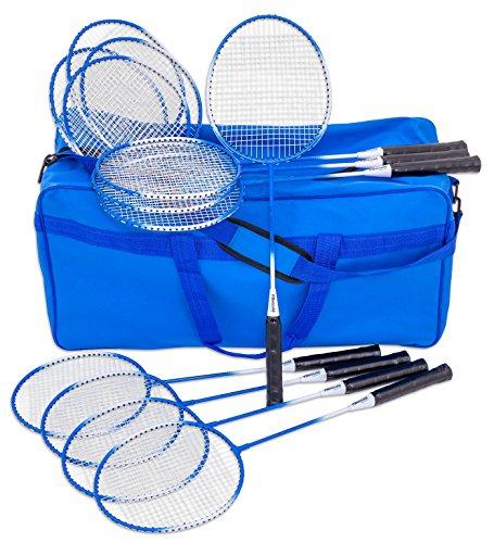 Betzold Sport - Badminton Schul-Set - 12 hochwertige Schläger, Federball