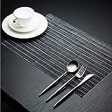 LYMUP Tovagliette, quadrato orizzontale, semplice tappetino antiscivolo, resistente al calore, resistente allo sporco, tessuto morbido e antiscivolo, lavabile per la tavola (dimensioni: 8 pezzi)