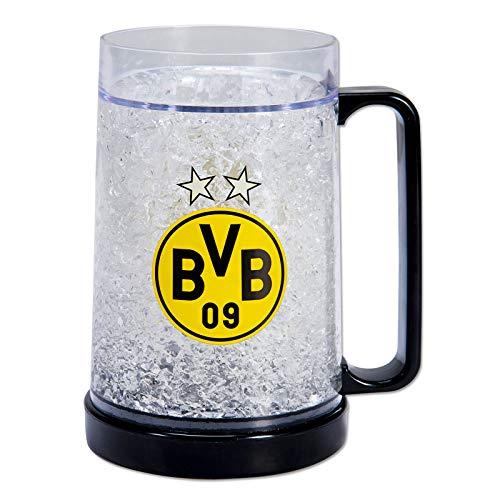 Borussia Dortmund Bierkrug Zum Einfrieren DS Direct BVB-Jarra de Cerveza (Cristal), Unisex Adulto, Transparente, Talla única