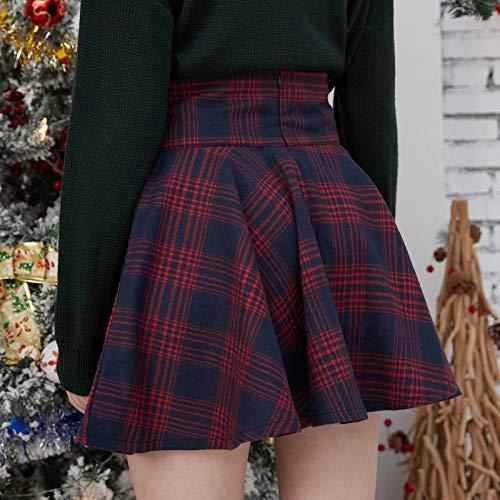 Dasongff Minifalda plisada para mujer, a cuadros, cintura alta, estilo gótico, línea A, para fiestas, minipatinadores, falda plisada, para carnaval, elegante, para el tiempo libre