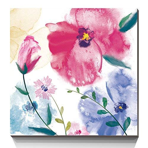 Top Abstract Pink Orchid Canvas Wall Art