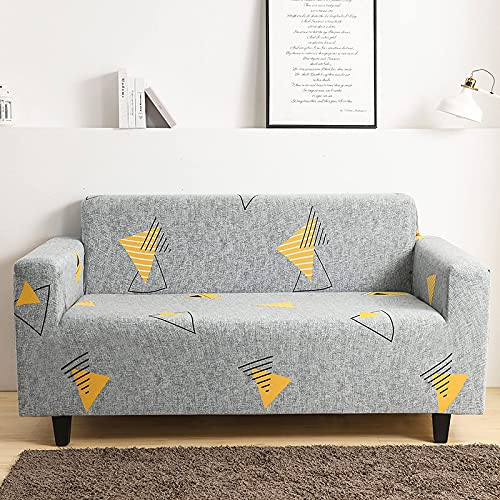 FWEOOFN Fundas para sofá fáciles de Llevar - Funda de sofá elástica con Estampado geométrico Todo Incluido, decoración del hogar, Sala de Estar, 1, 2, 3, 4, 4, Asiento 235,300Cm