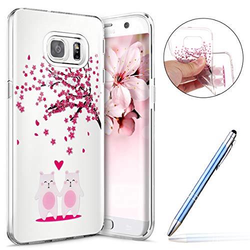 Robinsoni Cover Compatibile con Samsung Galaxy S6 Edge Cover Silicone Galaxy S6 Edge Case Trasparente Custodia in Gomma Morbido Flessibile Cover Antiu