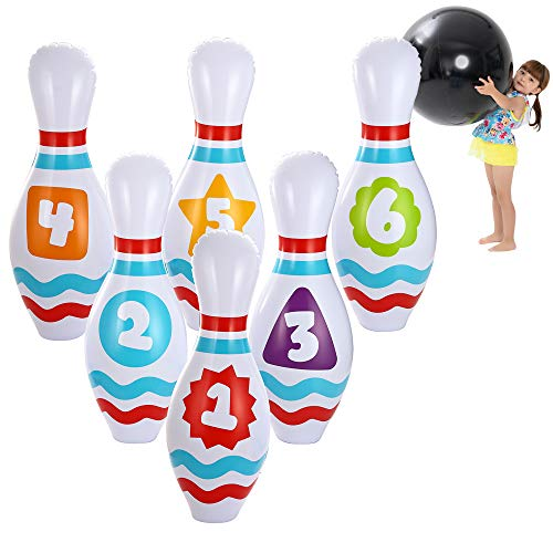 JOYIN Giant Inflatable Bowling Set for Kids and Adults Get-Together Party, Game Day Events, Indoor and Outdoor Party, Birthday Parties, Office Parties
