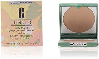 Clinique Stay-matte Sheer Pressed Powder For Dry Combination To Oily, No. 01 Stay Buff, 0.27 Ounce