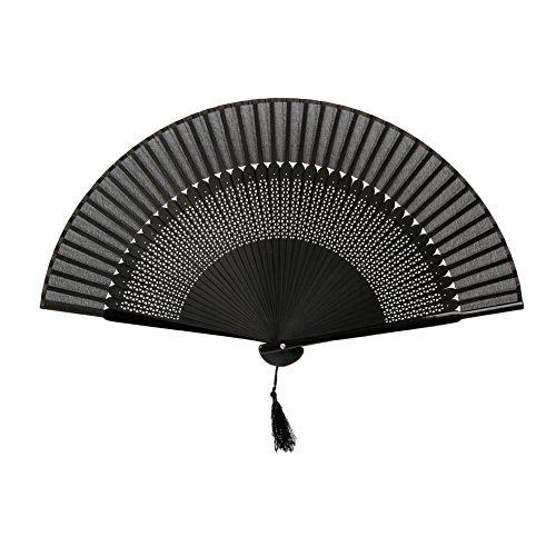 FullBerg - Abanico plegable japonés, estilo vintage, para mujer, hombre, bambú, para...