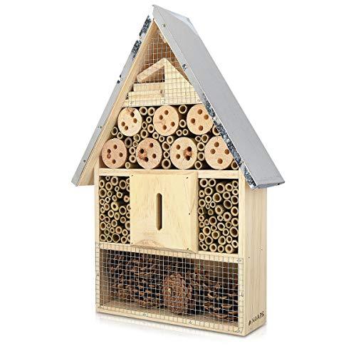 Navaris Hôtel à Insecte Bois - Cabane abri XL 40 x 23 x 7 cm