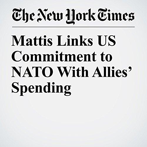 Mattis Links US Commitment to NATO With Allies' Spending copertina
