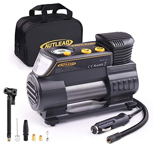 AUTLEAD C2 12V DC Portable Air Compressor Tire Inflator Pump  $20 at Amazon