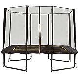 Rechteckige trampolin Magic Circle Pro Black 214 x 305 cm mit sicherheitsnetz Schwarz