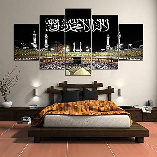 N/A YDHP Islam Mekka Kaaba Tapete HD Islamische Leinwand Gemälde Poster Druck Wandkunst Bilder für Wohnzimmer Wohnkultur-40x60 40x80 40x100cm ohne Rahmen