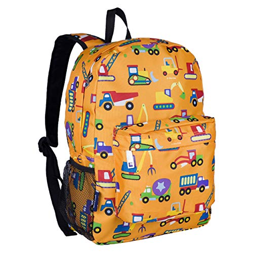 Wildkin Kids 16 Inch Backpack for Boys and Girls, Ideal Size for Kindergarten, Elementary, and Middle School, Perfect for School and Travel,600 Denier Polyester,BPA-free,Olive Kids(Under Construction)