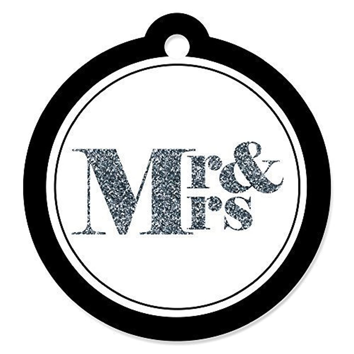 Mr. & Mrs. - Silver - Wedding Party Favor Gift Tags (Set of 20)