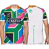 Maillot de Rugby, 2020 Édition Conjointe des Champions De La Coupe du Monde Chemise Afrique du Sud 100e Anniversaire Maillot Sevens, 2019 Championnat D'afrique du Sud Maillot (S-XXXL)-7-a-sideaway