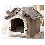 Cama para gatos Cama de gato, Casa de gato de mascota de sueño profundo plegable para dormir Cara de gato acogedora para perros pequeños Cat Gatito Teddy Cómodo Kennel Suministros para mascotas Cama d