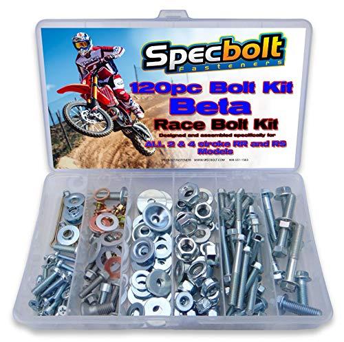 190Pc Specbolt Beta RR RS xtrainer motocicleta perno Kit 2503003503904004304504804985205252& 4trazos