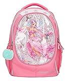 Depesche 11182 Fantasy Model Fairy Design - Mochila Escolar para niña (44 x 34 x 24 cm, 19,6 litros y 930 g, Tirantes Acolchados y Espalda ventilada), Color Rosa