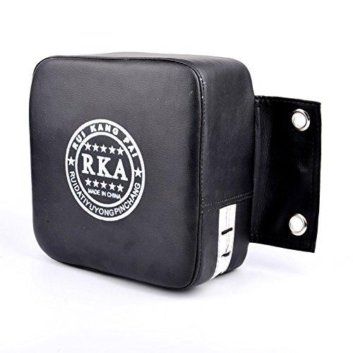 LYXMY Kick-Ziel-Schläge-Pad, Boxsacktraining, Wandmatte, verschleißfest, tragbar, dick, solide, quadratisch, klein, Schwarz, 19 x 19 cm