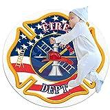 Rund Teppich Kinder Fuego Kinderteppich Kreatives Drucken Kriechender Teppich Waschbar Spielteppich Für Kinderzimmer Kindergarten Spielzimmer 80x80cm