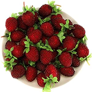 Gresorth 30pcs Artificial Raspberry Fake Fruit Decoration Home House Kitchen Cabinet Food Toy Model