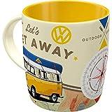 Nostalgic-Art - Volkswagen Retro Kaffee-Becher - VW Bulli T1 - Let's Get Away, Große Lizenz-Tasse...
