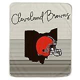 Pegasus Sports NFL Ultra Fleece State Stripe Blanket- Cleveland Browns
